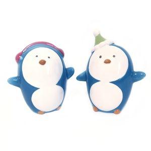 Other - Be Merry Ceramic Penguin Salt & Pepper Shaker Blue